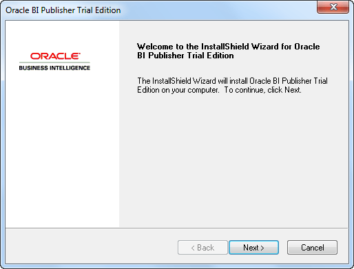 Oracle BI Publisher 11g Trial Edition - Installation Tutorial
