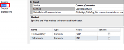 SSIS: Calling a Webservice by Using the Webservice Task