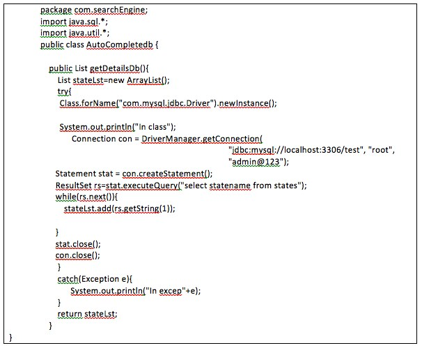 Implementing the Autocomplete Feature with Struts MVC/jQuery